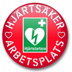 Hjärtsäker arbetsplats Vi hjärtsäkrar er arbetsplats!